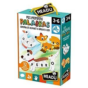 HEADU-Mis Primeras Palabras. Forma los Animales y aprede a Leer Juego Educativo Infantil, Color Verde (ES23530)