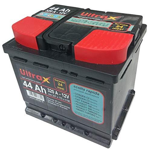 Ultrax - Batteria 44 Ah al litio per auto L1, 320A - 12 V, dimensioni 207 x 175 x h190 mm