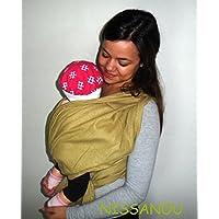 NISSANOU porte bébé ECHARPE DE PORTAGE neuve ABSINTHE (vert anis foncé)  idée cadeau naissance cb9f49362bc