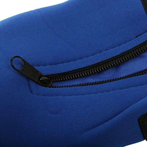 Outdoor Sport Wasserflasche Tasche Isoliert Neoprenhülle / Tragetasche Beutel + Schultergurt Blau