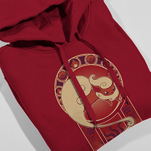 Flareon Art Of Fire Pokemon Women's Hooded Sweatshirt Cherry Red