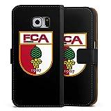 DeinDesign Samsung Galaxy S6 Tasche Leder Flip Case Hülle FC Augsburg Fanartikel Football