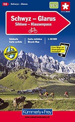 Schwyz / Glarus Cycle Map 2014 por Hallwag Kummerly & Frey AG