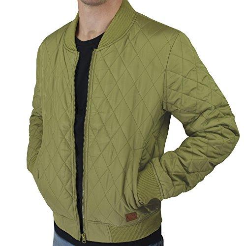 Cazadora urban air | Street Classics | chaqueta | Hombre | con patch de piel, acolchada | color negro, marina, color rojo vino u olivo | M, L, XL verde oliva XL