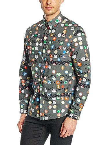 Desigual Camisa Hombre Ayeselolail R Gris XL