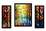 #8: SAF Watercolor set of 3 Modern Art 9201 Painting (35 x 3 x 50 cms)