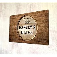 Personalizzato rum bar bar in legno A4metal Sign Plaque Wall Art