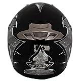 AKIRA Casque Moto Intégral Mito avec Ecran Solaire, Noir/Gris, XL