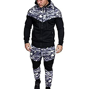 b8e15d77e9e Image Unavailable. Image not available for. Colour  BHYDRY Camouflage  Hoodie Men Tracksuit Sets Autumn Winter Sweatshirt Top ...
