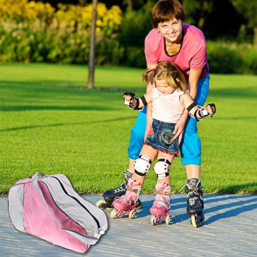 Mimir-T Schlittschuh-Tasche für Kinder Erwachsene , Rollschuh-Tasche zum Tragen von Schlittschuhen, Inline-Skate-Tasche & Quad-Skate-Tasche, Skates-Tasche Verstellbarer Schultergurt