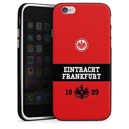 Apple iPhone X Silikon Hülle Case Schutzhülle Eintracht Frankfurt Fanartikel Adler Silikon Case schwarz / weiß