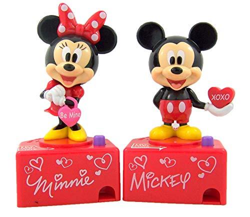 Disney Candy Dispenser Mickey and Minnie Mouse Spender für Valentinstag, 2 Stück