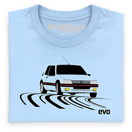 evo 205 Gti Supermini T-shirt, Uomo Celeste