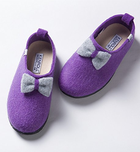 Filzpantoffel Purple Hausschuh Damen Fußbett Mit Kenroll Filzclogs wqPRaRS