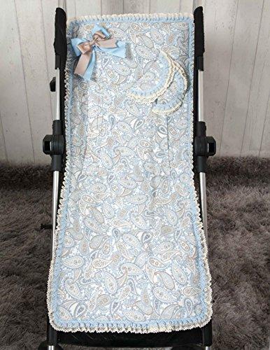 Babyline Caramelo - Colchoneta ligera para silla de paseo, color azul