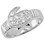 925 Sterling Silver Baby Children's Cubic Zirconia Boxing Glove Ring