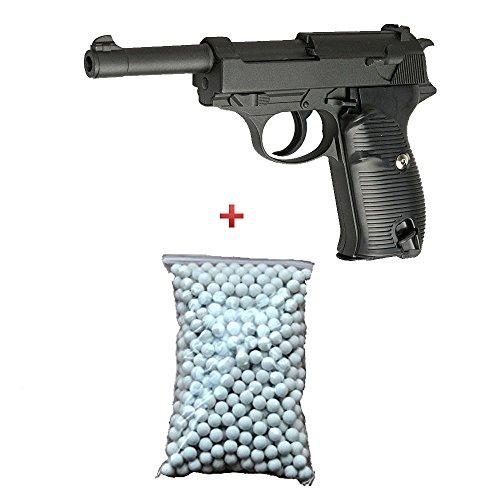 AIRSOFT Galaxy G21?Typ Walther P38?gefedert Farbe schwarz Flasche von Kugeln 0,12?inkl. Force Special/Swat/Cosplay/M?chte 0,5?Joules...