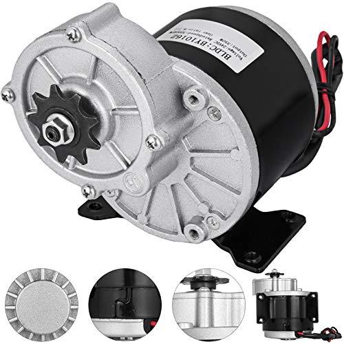 Mophorn DC Motor 24V Permanent Magnet Motor 350W Getriebemotor mit Bürsten für E-Bike - Elektromotor Bürsten