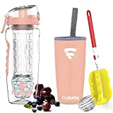 Fruitalite Fruit Infuser Water Bottle- 1 Litre, Tritan Infusion Rod with Ice Gel