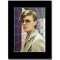 David Bowie–80da Shot. Magazine Promo su un nero Mount