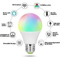 WEIHUIMEI 1PC Smart WiFi LED Glühbirne Multicolor Wake-Up LightsKompatibel mit Alexa und Google Assistant preisvergleich bei billige-tabletten.eu