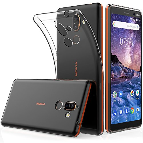 Peakally Coque Nokia 7 Plus, Ultra Fine TPU Silicone Transparent Souple. e3d9f9ebdc3