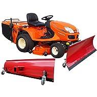 Universal neve scudo con ruote 200x 40cm rosso, per trattore a 1asse Quad ATV
