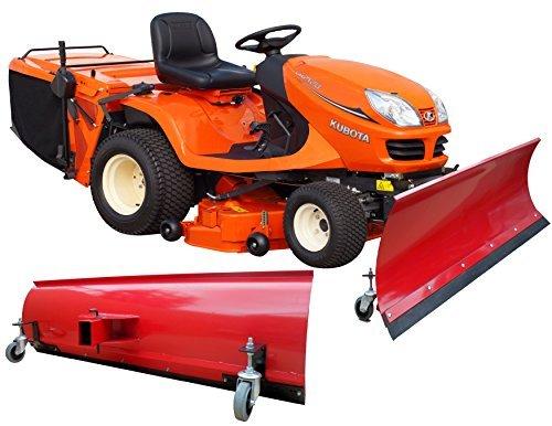 BEBV-Hoja quitanieves universal con ruedas 150x 40cm Rojo Tractores Cortacésped, quads y ATV de tractor
