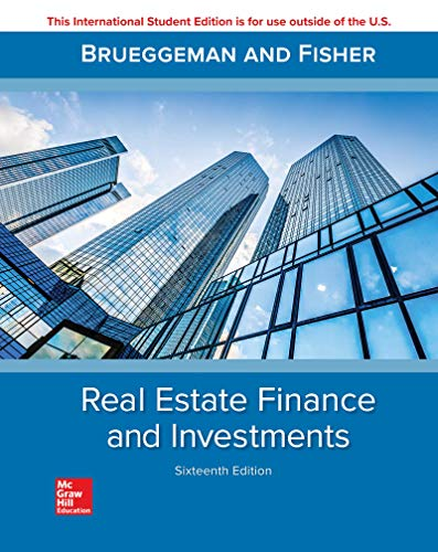 Real Estate Finance and Investments (Real Investments Estate)