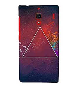 For Xiaomi Redmi 1S :: Xiaomi Hongmi 1S pyramid, Grey, Amazing Pattern, Amazing Pattern, Printed Designer Back Case Cover By CHAPLOOS
