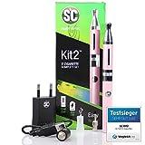 E-Zigaretten Komplett-Set SC Kit 2 in pink (Für Einsteiger und Profis) - perfektes Preis-Leistungsverhältnis