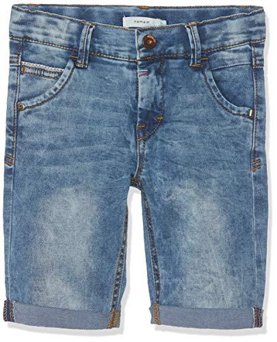Name IT NOS Jungen Shorts NKMTHEO DNMTIMON 2164 Long NOOS,  Blau (Medium Blue Denim), (Herstellergröße: 92) Long Blue Denim