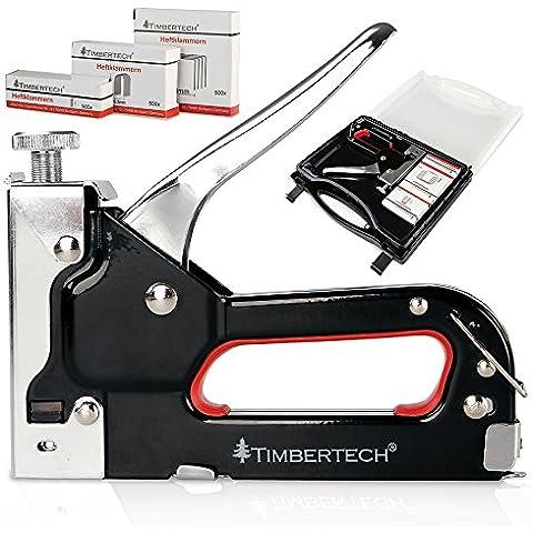 Timbertech - TAKR01 - Grapadora - Con maletín de transporte y grapas