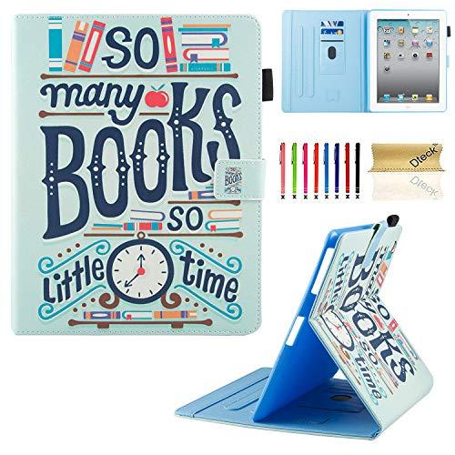 iPad Hülle, iPad 2/3/4Fall, dteck Mehreren Sichtwinkeln Folio Ständer Smart iPad Schutzhülle Hülle mit Auto Sleep/Wake Schutzhülle für iPad 4. Generation, iPad 3und iPad 2, 01 Books -