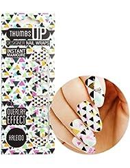 Thumbsup ongles–Kaleido Transparent Nail Wraps pour 20/Pack