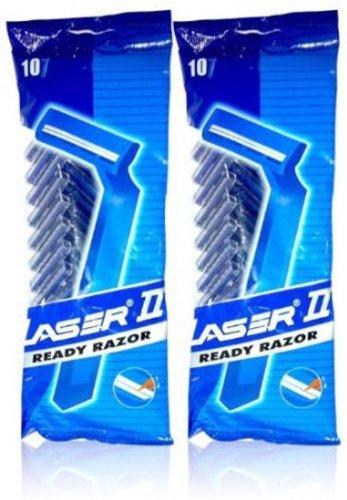 Laser II Herren Rasierer Einwegrasierer 10 Stück – Twin Klinge Bargain