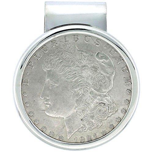 Revoni Sterling Silber Morgan Dollar Geld Clip (1878–1921) (1878 Morgan-dollar)