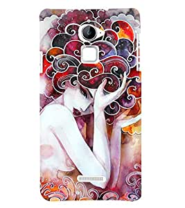 Wonderful Woman Painting 3D Hard Polycarbonate Designer Back Case Cover for Coolpad Note 3 Lite