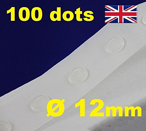 100 Glue Dots Sticky Craft transparent Karte machen Scrap abnehmbarer 12 mm Glu Punkte Low Tack/Easy Tack -