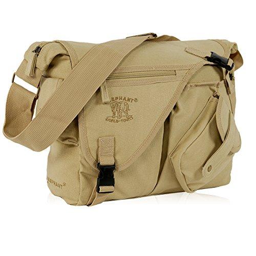 Messenger JACK BAG Canvas Umhängetasche Desert Sand NEU (Schule Bags Messenger)