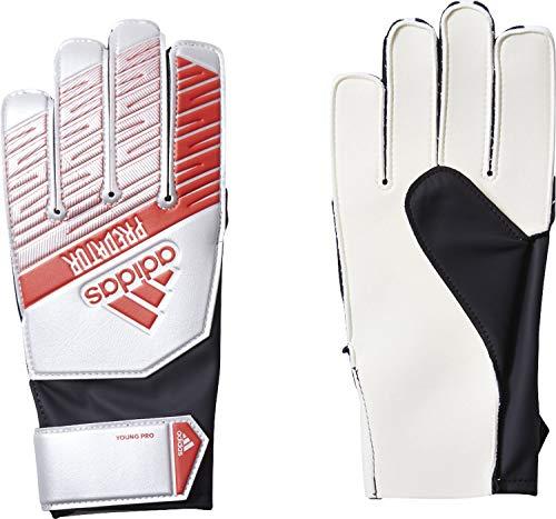 adidas Predator Young PRO, Goalkeeper Gloves Bambino, Silver Met./Black, 4.5