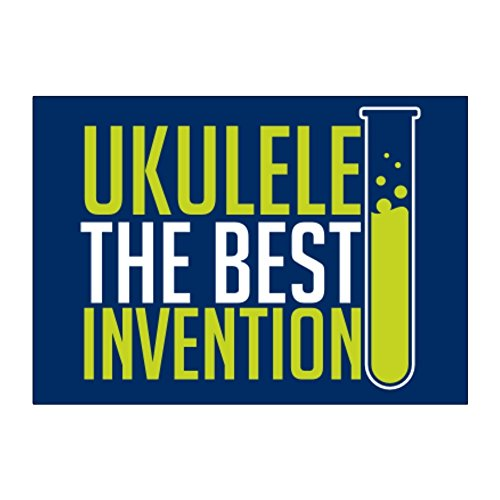 Teeburon Ukulele the best invention Aufkleber Packung x4