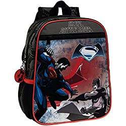 Warner 4632151 Batman Vs Superman Mochila Infantil, 6.44 Litros, Color Negro
