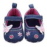 BlueSterCool Zapatos de Bebé, Primeros Pasos Para Niña Mariposa Suave Sola Niña Zapatos de Paño...