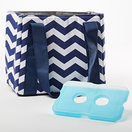 fit-fresh-venice-insulated-lunch-bag-with-reusable-ice-pack-navy-white-chevron-by-fit-fresh
