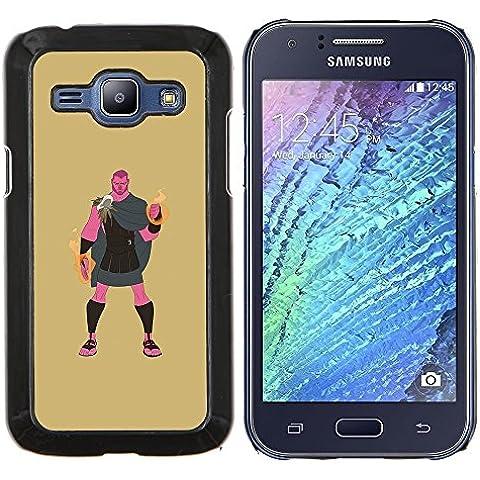 Copertura di plastica Shell Custodia protettiva || Samsung Galaxy J1 J100 || Eroe greco Ercole Demigod Mistico @XPTECH