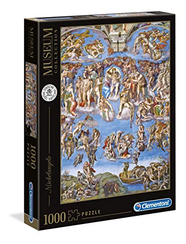 Clementoni 39497 Clementoni-39497-Vatican Collection-Michelangelo-Das jüngste Gericht-1000 Teile, Mehrfarben