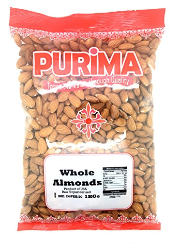 Almonds 1Kg Whole Raw Kernels Natural Californian Almond Nuts PURIMA