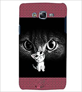 PrintDhaba Kitty D-2468 Back Case Cover for SAMSUNG GALAXY J5 (Multi-Coloured)