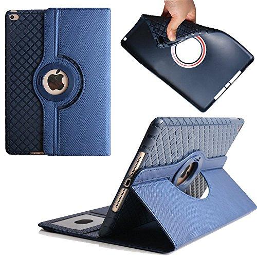 iPad Air 2 9.7 Inch Caso, Avril Tian 360 Degrees rotación Función atril magnética con ranuras para tarjetas Smart Protector de pantalla desmontable carcasa para Apple iPad Air 2 9.7 Inch Tablet